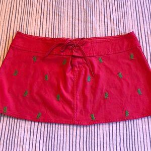 Pink/Kelly Green Beach Skirt